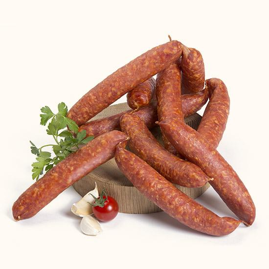 Smoked straight sausages